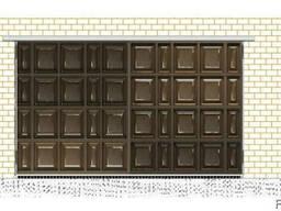 Филенчатые ворота гаражные-шоколадка