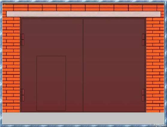 Гаражные ворота сварные металлические - в гараж, для гаража