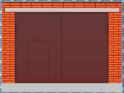 Гаражные ворота сварные металлические в бокс, цех, на склад