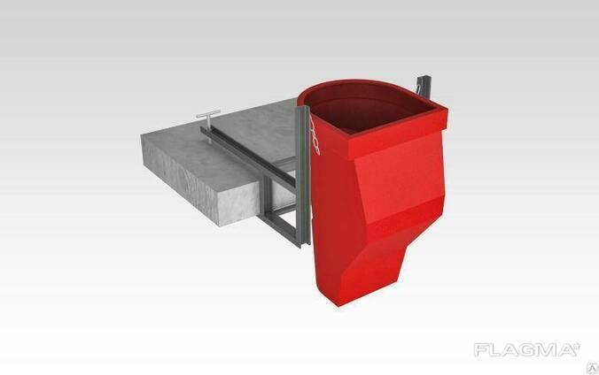 Гаситель скорости с комплектующими (цепи, карабины) для мусороспуска