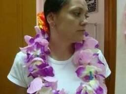 Гавайская юбка, гавайские венки на шею, гавайские леи, лейсы
