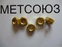 Гайки из латуни М4,М5,М6,М8,М10,М12,М16 ГОСТ5915-70