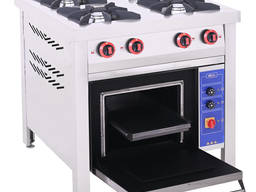 Газова плита промислова з електричною духовкою електродуховка ПГДЕ-4
