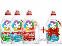 Гель Active 3 л, а четвертий Active 3 л. отримуй в подарунок.
