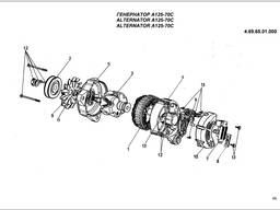 Генератор А125-70С (№ 4. 69. 65. 01. 000)двигателя Андория 4ст90