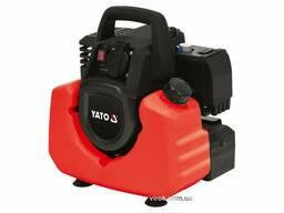 Генератор ел. струму інверторний бензиновий YATO: W=800/880 Вт, U=230 В, витрата- 0.75. ..
