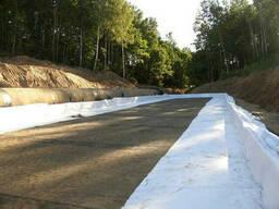 Геотекстиль для строительства дорог Серый