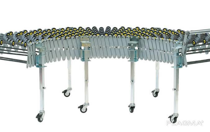 Раздвижной приводной транспортер крепления для рольгангов