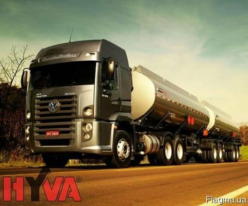 Гидравлическая система Hyva на бензовоз с алюминиевым баком