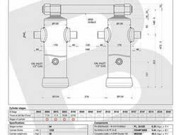 Гидроцилиндр Binotto A DWR 4-1220-130 (подкузовной)
