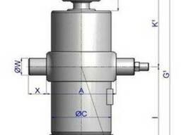 Гидроцилиндр Hyva на самосвал 5-ти штоковый, подкузовной - фото 2