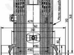Гидроцилиндр подъема платфоры (кузова) самосвалов МАЗ и прицепов МАЗ 6501-8603510