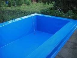 Гідроізоляція басейну з ПВХ мембрани.