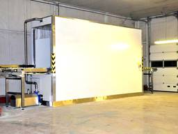 Гидрокуллер туннельного типа для продукта на европаллетах