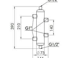 "Гидрострелка SD Forte 1"" 50 кВт SF29350"