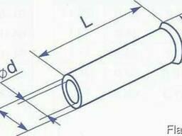 Гильза медная без изоляции для провода сечением 1 квадрат мм