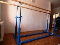 Гимнастическое оборудование: брусья, бревно, конь, козел