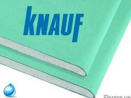 Гипсокартон Knauf влагостойкий 12, 5мм 2 м