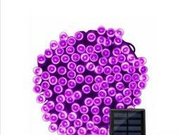 Гирлянда 200 LED 22 м фиолетовый на солнечной батарее