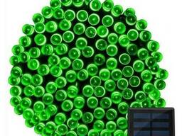 Гирлянда 200 LED 22 м зеленая на солнечной батарее