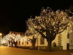 """Светодиодная подсветка деревьев, гирлянда нить """"Луч 3 х20 м"""""""