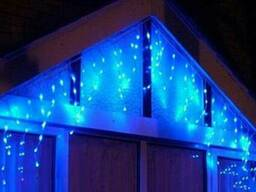 Гирлянда LED бахрома 120 светодиодов (мульти, белая, синяя,