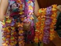 Гирлянда на шею,гавайская вечеринка,лейсы