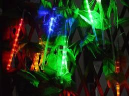 Гирлянда на солнечной батарее Метеоритный дождь RGB 360 LED