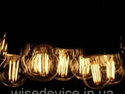 Гирлянда светодиодная уличная филаментная led 5 м 11 ламп RLG-VF-005-011
