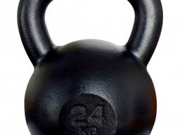 Гиря чугунная для кроссфита 24кг KAWMET (металлическая)