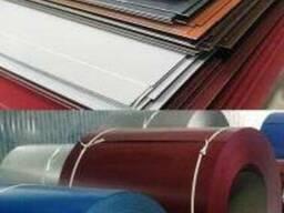 Гладкий лист с полимерным покрытием толщина 0,4мм