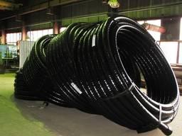 Гофрированная гибкая труба для прокладки кабеля 63 мм 450Н бухта 50м