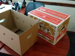 Гофроящик для яблок комплект крышка-дно 452х292х289(д/ш/в)