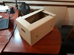 Гофроящик для яблок с укороченным клапаном 385х275х280