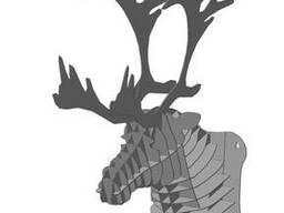 Голова оленя. Декор на стену 3D пазл из Метала