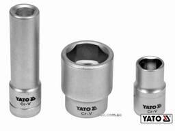 """Головки торцеві для обслуговування інжекторних помп YATO 1/2"""" Cr-V 3 шт"""