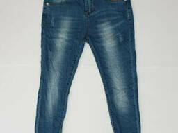 Модные стрейчевые зауженные джинсы для девочки с поясом на каждый день 164