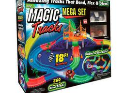 Гоночная трасса конструктор Magic Tracks 360 деталей + 2. ..