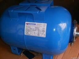 Горизонтальный гидроаккумулятор 24 литра Италия, Aquasystem