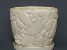 Горшок керамический для цветов Камни