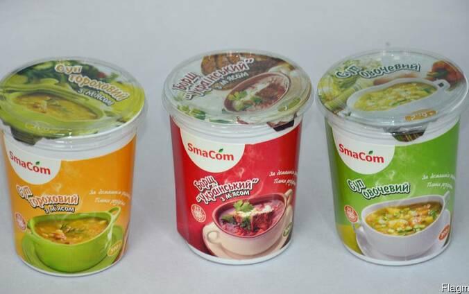 Готовые первые и вторые блюда ТМ Smacom