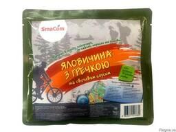 Говядина с гречкой и овощным соусом в реторт-пакете ТМSmaCom