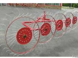 Грабли-ворошилки Wirax на круглой усиленной трубе на 5 колес