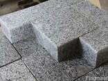 Гранитная брусчатка полнопиленная, тротуарная плитка - фото 4