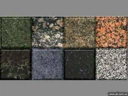 Гранітна плитка, сляби. Вироби з каменю - граніту, мармуру.