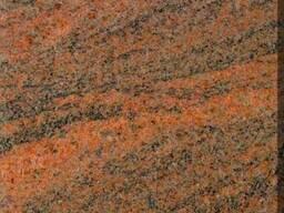 Гранитная плита red multicolor полировка 3 см красный