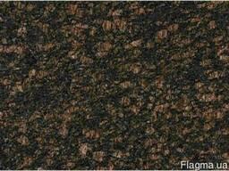 Гранитная плита Tan Brown полировка 2 см черно-коричневый