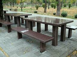 Гранитный столы и лавки