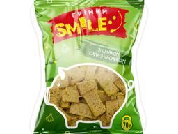 """Грінки домашні """"Smile"""" зі смаком сала з часником 70г (100шт/ящ)"""