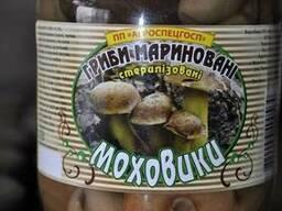 Грибы маринованные маслята, опята, моховик(польский), грузди